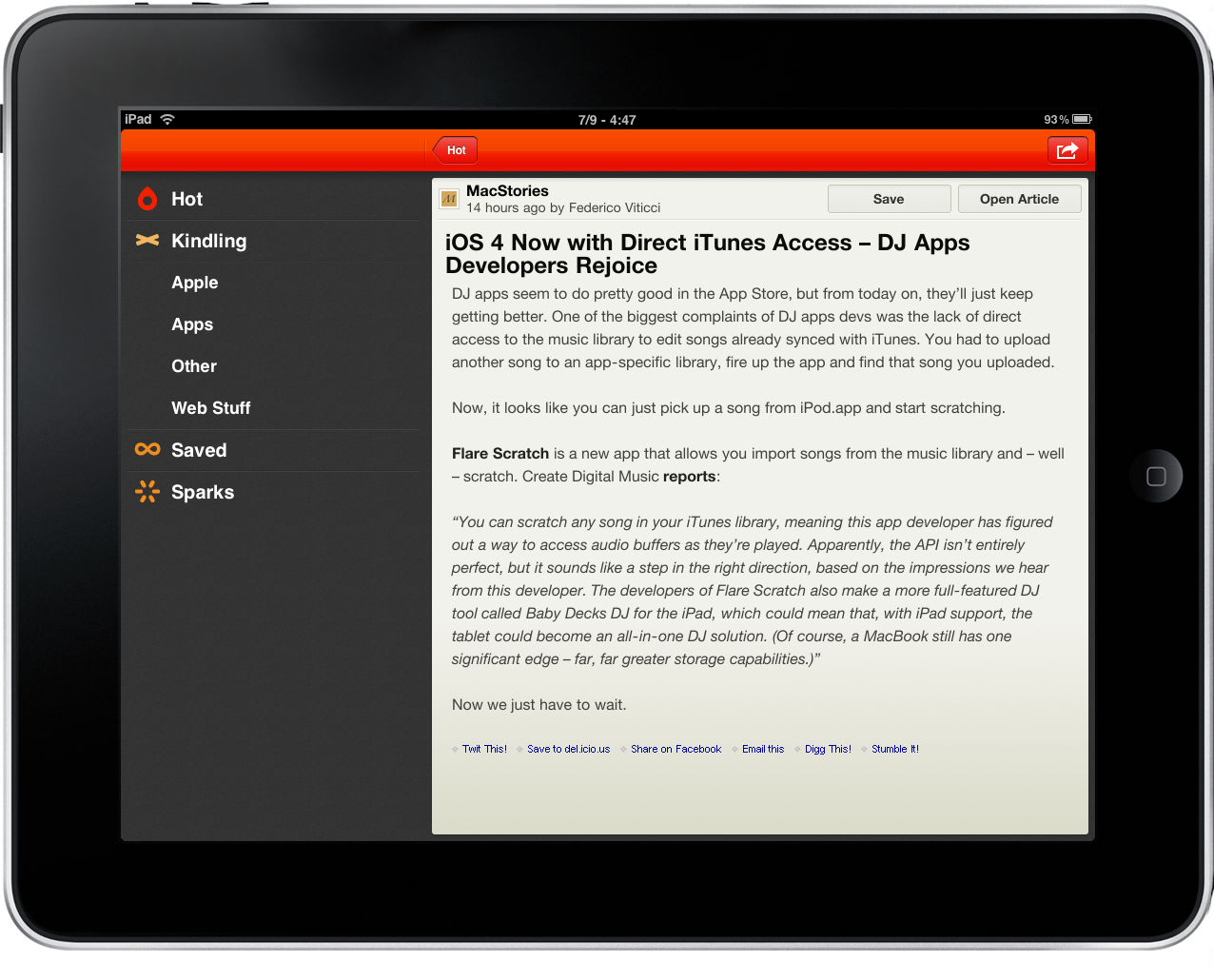 Ashes for iPad - MacStories