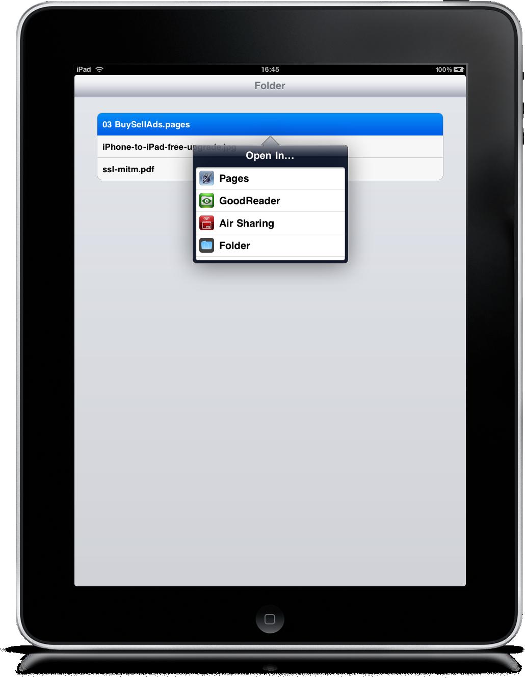 how to create folders on an ipad