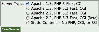 Selecting Apache