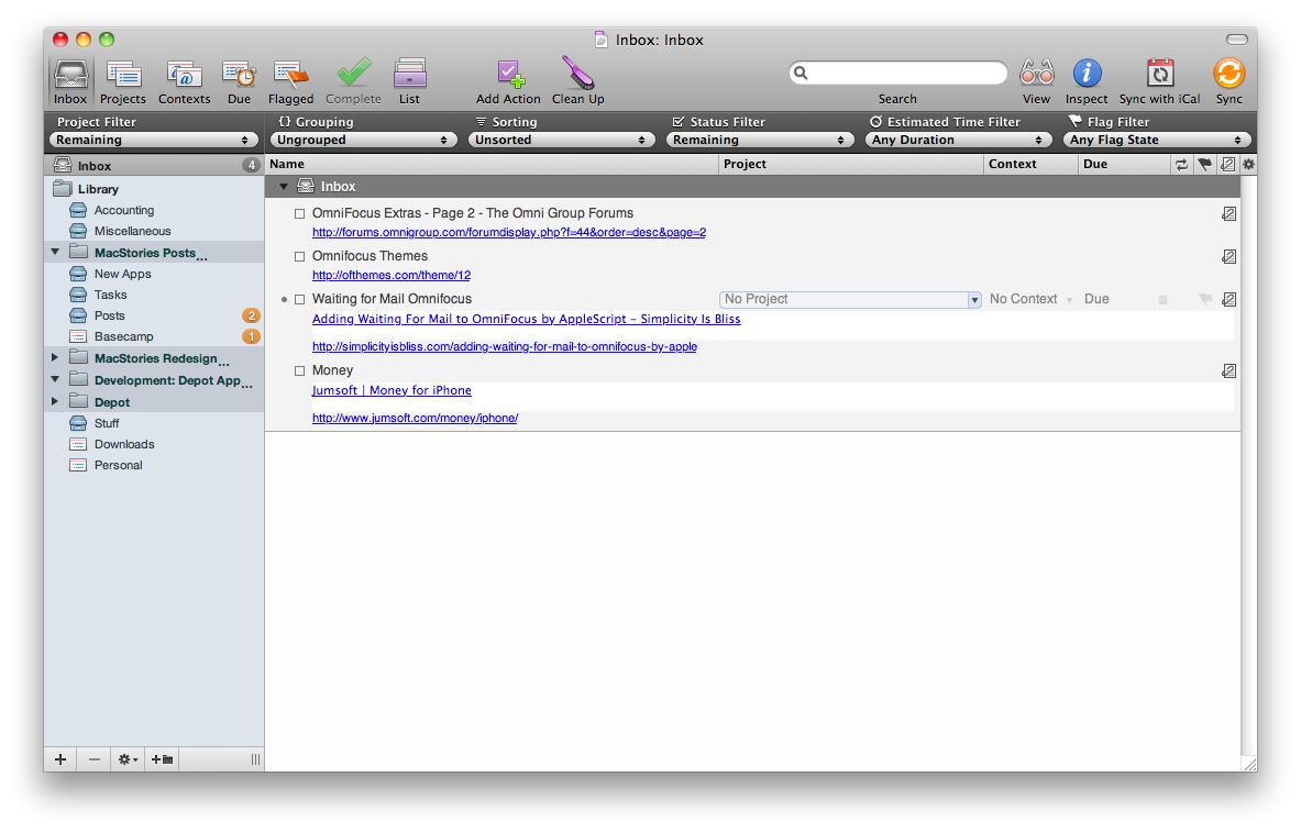 Discovering GTD Once Again with Omnifocus